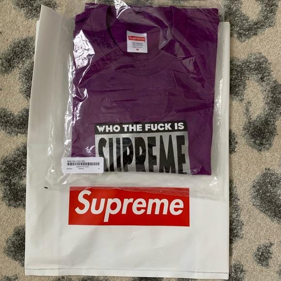 89fd9c87bdb5 Supreme Shirts   New T Shirt Who The Blank Is   Poshmark
